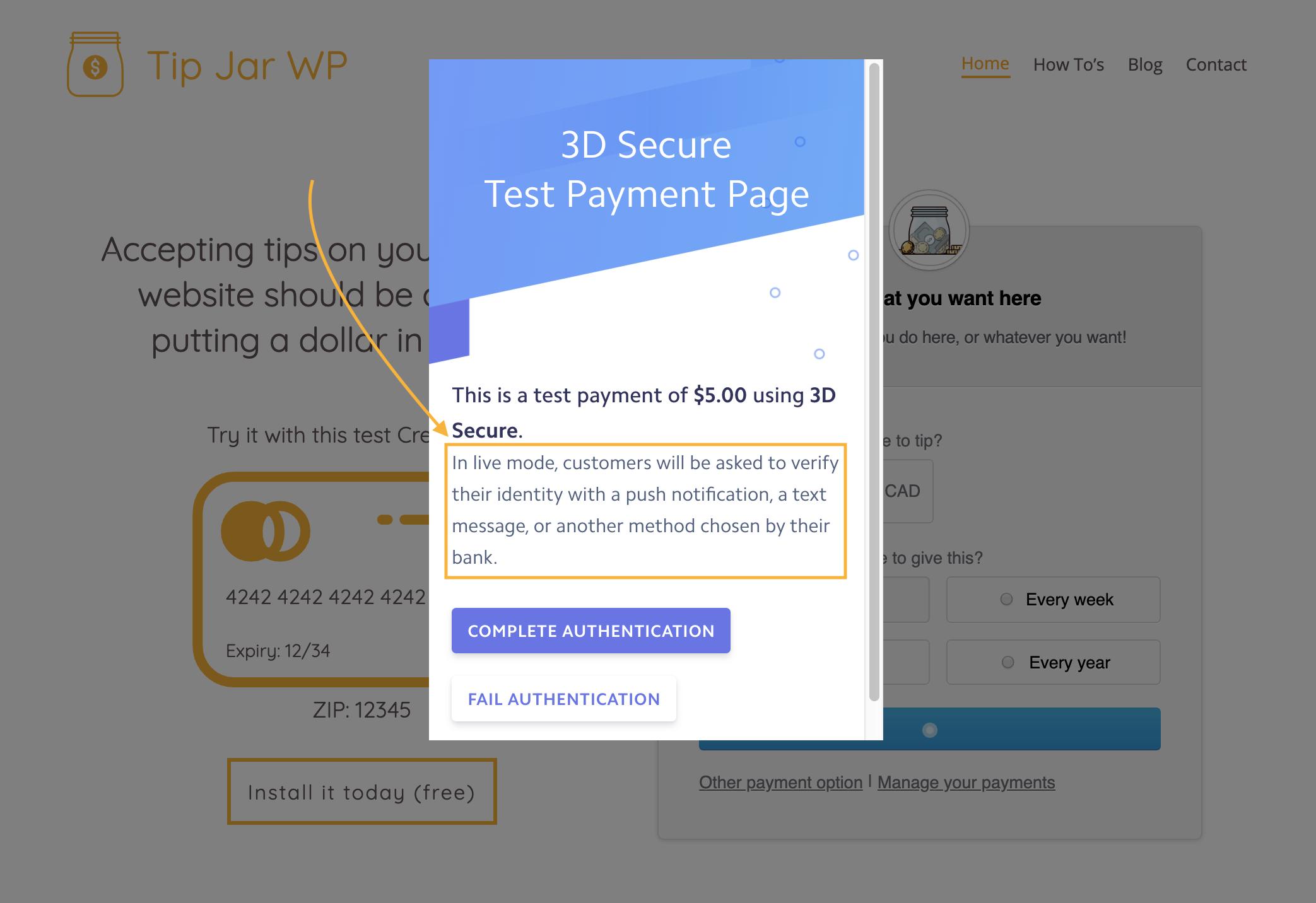 SCA and Stripe on WordPress (Tip Jar WP is ready!) - Tip Jar WP